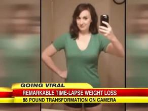 Mujer muestra en cinco segundos cómo bajó de peso