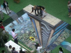 Grandiosa obra de arte en 3D se exhibe en Medellín