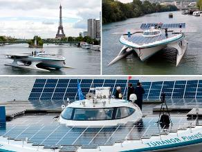 El Turanor PlanetSolar, el barco solar en las aguas del río Sena