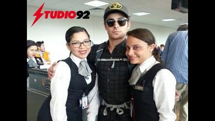 Actor Zac Efron está de visita en el Perú