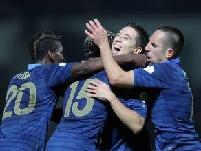 Francia superó a Bielorrusia y buscará avanzar al Mundial en repechaje