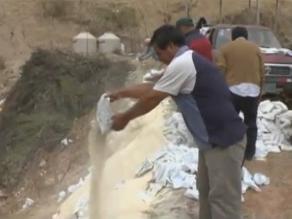 Ayacucho: Destruyen casi 3 toneladas de productos de Vaso de Leche