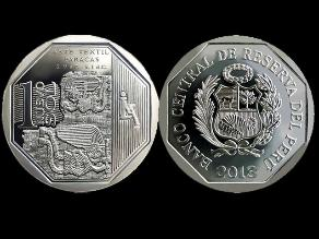 Lanzan nueva moneda de S/. 1 alusiva al Arte Textil Paracas