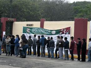 Más de 26 mil postulantes rendirán examen a universidad San Marcos