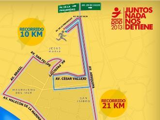 ¿Listo para la Maratón de RPP 2013?: Conoce las rutas de 21K Y 10K