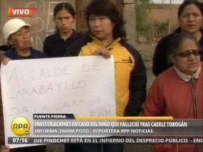Denuncian que municipio de Carabayllo no apoya a deudos de niño muerto