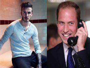 Príncipe William y David Beckham se unen para grabar comercial