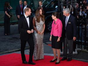 Los duques de Cambridge reaparecen en una cena de gala