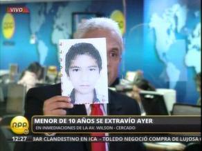 Niño de 10 años se extravió en el Centro de Lima