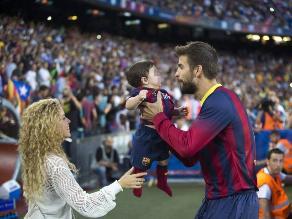 Shakira y Milan asistieron al Camp Nou para alentar a Piqué y Barcelona
