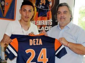 Jean Deza debutó en la liga francesa en empate de Montpellier