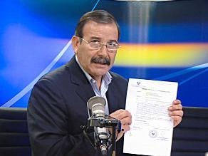 Miguel Hidalgo asegura que informó a superiores sobre caso BTR