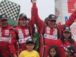 Vea el festejo de Richard Palomino en el podio de Caminos del Inca