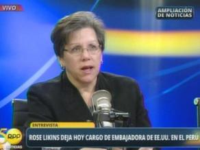 Saliente embajadora de EEUU: Actual estrategia antidrogas es comprensiva