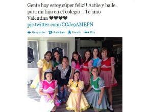 Tula Rodríguez actuó de princesa en el colegio de su hija