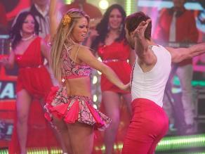 El gran show: Sheyla Rojas mostró sexy agilidad