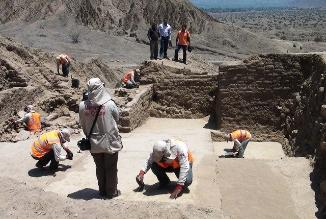 Iniciarán conservación de arquitectura Mochica hallada en Pampagrande