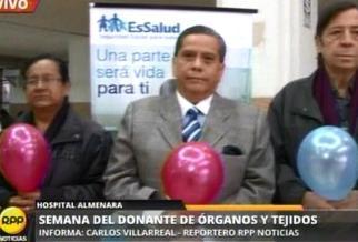 Semana de la donación de órganos se inició en Hospital Guillermo Almenara