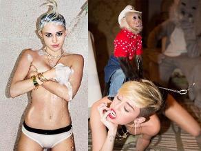 Miley Cyrus continúa publicando sensuales fotografías en Twitter