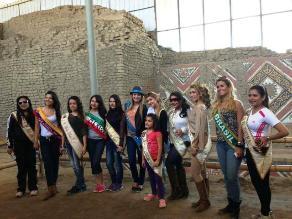 Reinas de la primavera encantadas con la riqueza histórica de Trujillo