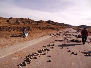Arequipa: Panamericana Sur bloqueada por fuerte sismo