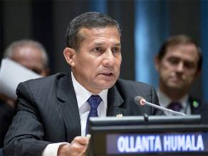 Ollanta Humala intervendrá en Asamblea General ONU