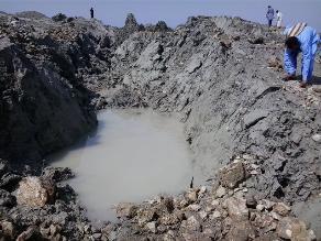 Mira fotos de la insólita isla que emergió tras terremoto en Pakistán