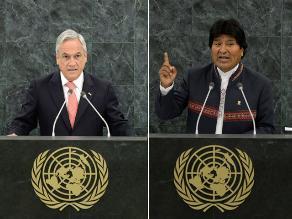 Chile acusa a Evo Morales de tergiversar ante ONU palabras de Piñera