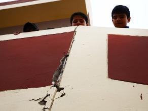 Tras sismo: 64 viviendas inhabitables y 68 familias damnificadas