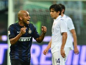 Inter de Milán venció a la Fiorentina que tuvo a Juan Vargas suplente
