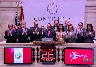 Presidente Humala dio campanazo de cierre en Bolsa de New York