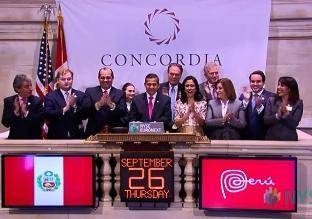 Ollanta Humala dio campanazo en cierre de Bolsa de Nueva York