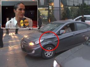 Kina Malpartida evitó hablar con los medios tras accidente vehicular