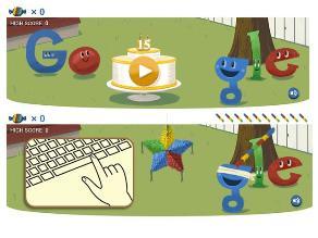 Google celebra 15 años de creación con divertido doodle
