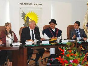 Parlamento Andino rechaza la decisión de tramitar su cierre