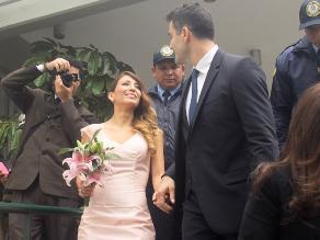 Delly Madrid contrajo matrimonio civil con Antón Alba