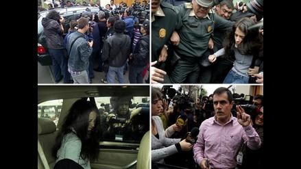 Reviva en imágenes la salida de Eva Bracamonte de la cárcel