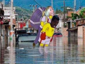 México: Memes de Laura Bozzo por visita a damnificados
