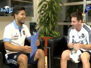 Sergio ´Kun´ Agüero tuvo divertida entrevista con Lionel Messi