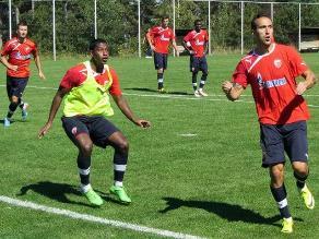 Miguel Araujo anotó gol en amistoso del Estrella Roja de Belgrado