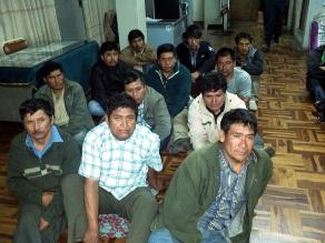 Trujillo: Juez determinará si 24 mineros son recluidos en penal