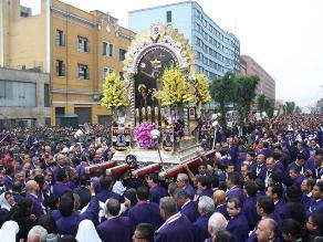 Conoce las calles que cerrarán por procesión del Señor de los Milagros