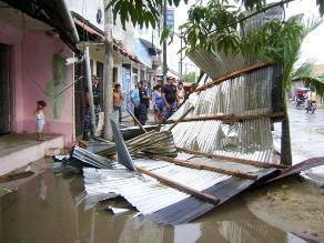 Amazonas: Fuertes vientos dejan sin techo a casas rústicas de caserío