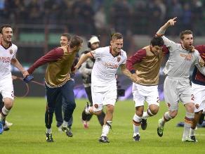 AS Roma superó de visita al Inter de Milan por 3-0 en la Serie A