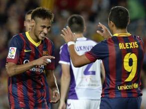 Barcelona goleó al Valladolid por 4-1 con doblete de Alexis Sánchez