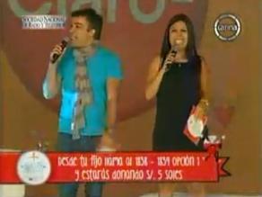 Tula Rodríguez hace broma sobre Laura Bozzo en Teletón 2013