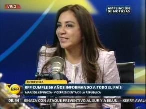 Marisol Espinoza: Hemos crecido escuchando RPP