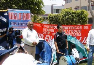 Chiclayo: Trabajadores de Salud cumplen 6 días en huelga de hambre