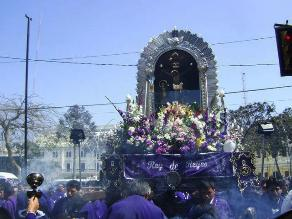 Señor de los Milagros realiza hoy su primer recorrido en Chiclayo