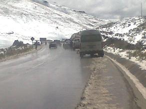 La Oroya: Nevada en Ticlio provocó accidente de tránsito